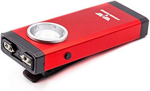 Avenger Defense ADS-300 – Premium Stun Gun for Women – USB Rechargeable 250 Lumens LED Tactical Flashlight with 3 Modes – Taser Gun with Powerful 1.3 C Charge Exclusive Low Profile Clip Design, Red