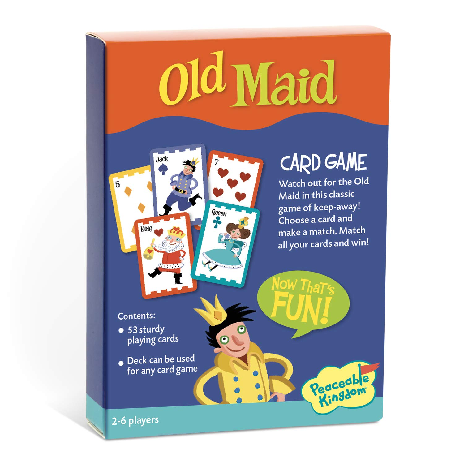 362061d99370 Amazon.com  Peaceable Kingdom Old Maid! Classic Card Game for Kids - 53  Cards  Toys   Games