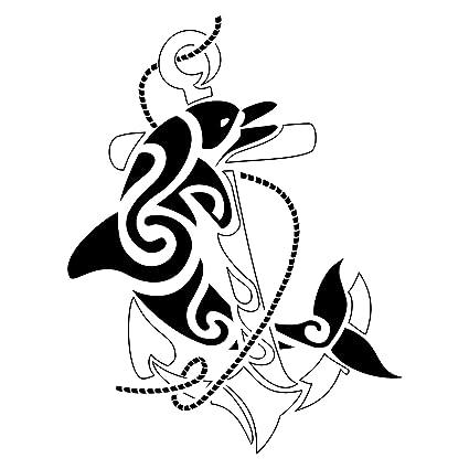 Ancla tatuaje de delfn, pegatinas de vinilo, etiqueta engomada, H ...