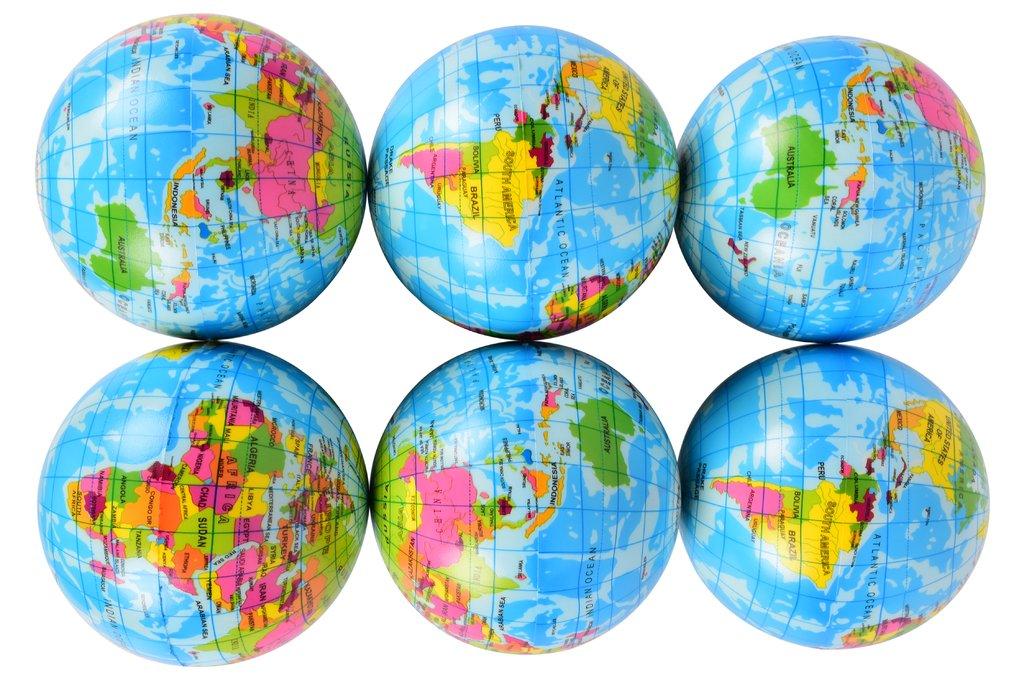 Planet Of Toys Set Of 12 Hop Balls - Globe Design For Kids / Children by Planet of Toys (Image #1)