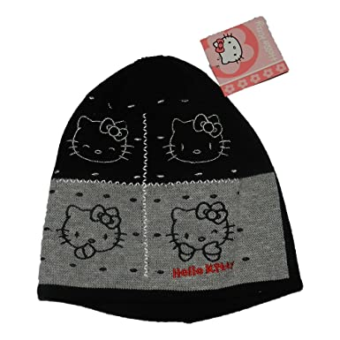 31d401c339a Official Hello Kitty Beanie Hats (FREE UK delivery) (Black)  Amazon ...