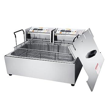 Li Bai - Frisor eléctrico profundo de acero inoxidable, 22 L, para restaurante, cocina, cocina, hogar, cocina, 1 bote: Amazon.es: Hogar