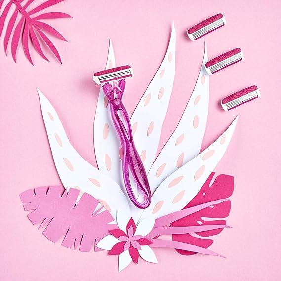 BIC Soleil Easy Kit de Maquinillas para Mujer - Paquete de 2 Mangos y 8 Recambios: Amazon.es: Salud y cuidado personal