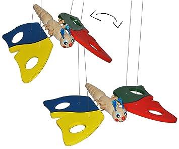 Unbekannt Holzmobile Unruhe Schwingtier Schmetterling Bunt Aus Holz Spielzeug Windspiel Tiere Schmetterling Mobile Traumfänger Für Kinder Baby