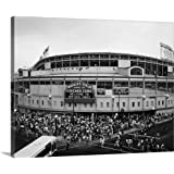 "Canvas on Demand Premium Thick-Wrap Canvas Wall Art Print entitled Tourists outside a baseball stadium at opening night, Wrigley Field, Chicago 20""x16"""