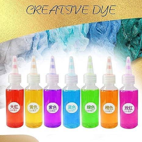 VWsiouev - Juego de 7 botellas de pintura para telas de ...