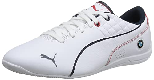 df8f0fe9084 Puma Men s BMW MS Drift Cat 6 Leather White-White Leather Running Shoes -  13UK