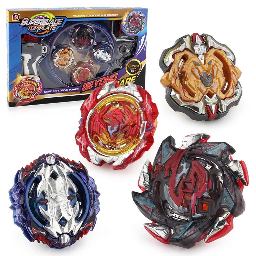 tolles Kinder Spielzeug 4 St/ück Kampfkreisel Set Speed Kreisel mit Basis-Arena 4D Fusion Modell Metall Masters Beschleunigungslauncher