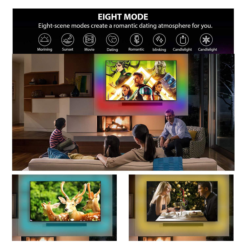 LEDGLE Led striscia Rgb 5050 5M, Strisce Led 12v, WiFi Intelligente Music Sync LED Strip APP Controllo Compatibile con Android,IOS, Alexa, Google Home, Impermeabile IP65, 150 LED, 24W(interni//esterni