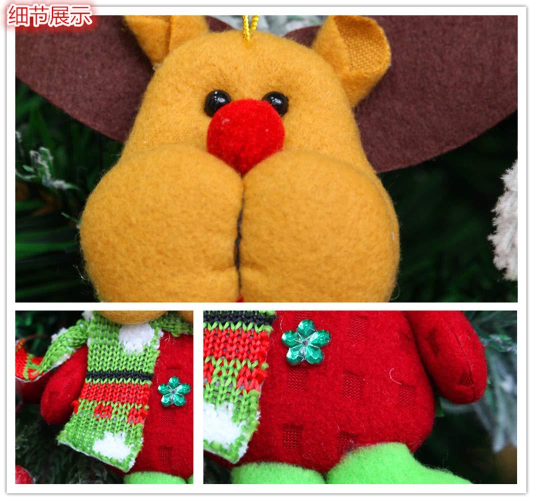 RLucky | Christmas Plush Dolls | Home Ornament Decoration Toys | Santa Clause Snowman Reindeer Doll | Hanging Dolls | Set of 4 Soft Plush Stuffed Toy