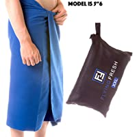 Microfibre Towel Extra Large XL & XXL Quick Dry Compact Travel Towel For The Beach, Shower And Bath By Flying Fresh Lightweight and Absorbent, Great For Sport, Gym, Yoga, Camping, swimming, Free Ebook