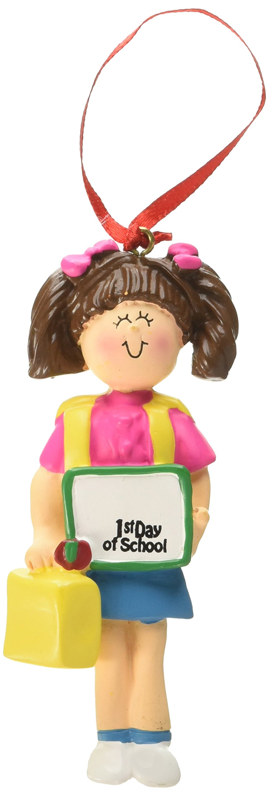 Ornament Central OC-167-FBR First Day of School Female Figurine