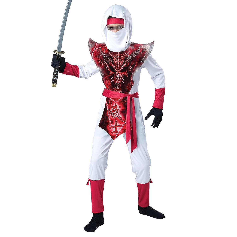 Amazon.com: Totally Ghoul Dragon Ninja Costume, Size: Boys X ...