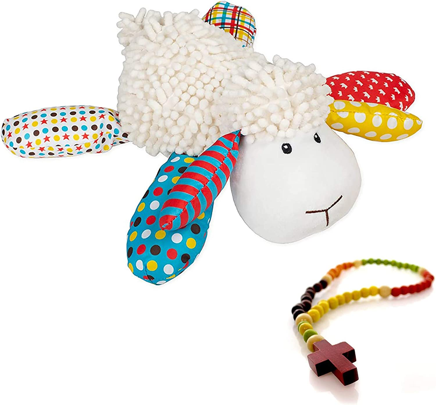 Lil Prayer Buddy Louie The Lamb 3 Prayers and My First Rosary 2 Pc Set