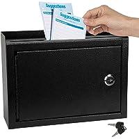KYODOLED Suggestion Box with Lock,Locking Mailbox, Key Drop Box, Wall Mounted Mail Box,Safe Lock Box,Ballot Box,Donation…