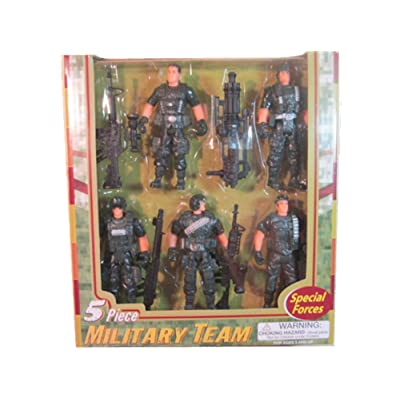 Special Forces Five Piece Military Team by Polyfect Toys: Toys & Games