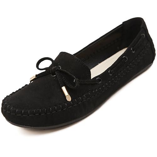 katliu Mujer Mocasines Casuales Loafers Planos Slippers Casual Cómodo Zapatillas Cuero Zapatos Para Primavera Verano Otoño: Amazon.es: Zapatos y ...