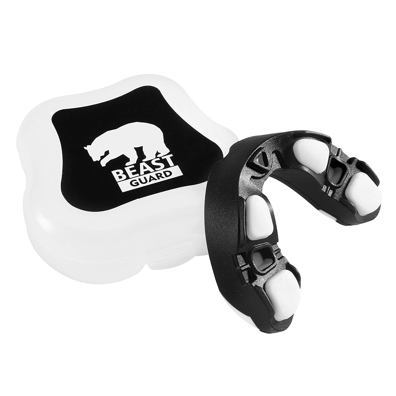 BBGuards Mouthguard/Gum Shield - Rugby, Boxing, MMA, Hockey. One Size. Moldable. Professional Mouthguard