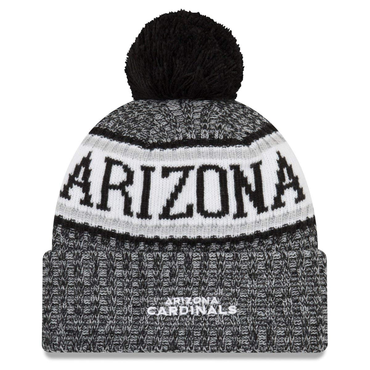 c8838867fb8 Amazon.com   New Era Arizona Cardinals Black   White Sport Knit NFL 2018  Beanie Unisex Hat