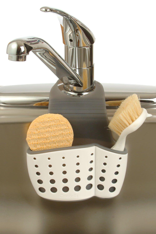 Amazon com casabella sink sider faucet caddy home kitchen