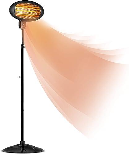 DONYER POWER Electric Radiant Heater Courtyard Quartz Heater 1500W