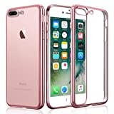 iPhone 7 Plus Case, KKtick iPhone 7 Plus Plating Bumper [Metal Electroplating Technology] Soft Gel TPU Silicone Case Drop Protection / Shock Absorption Protective Cover for iPhone 7 Plus 5.5 inch (Rose Gold)