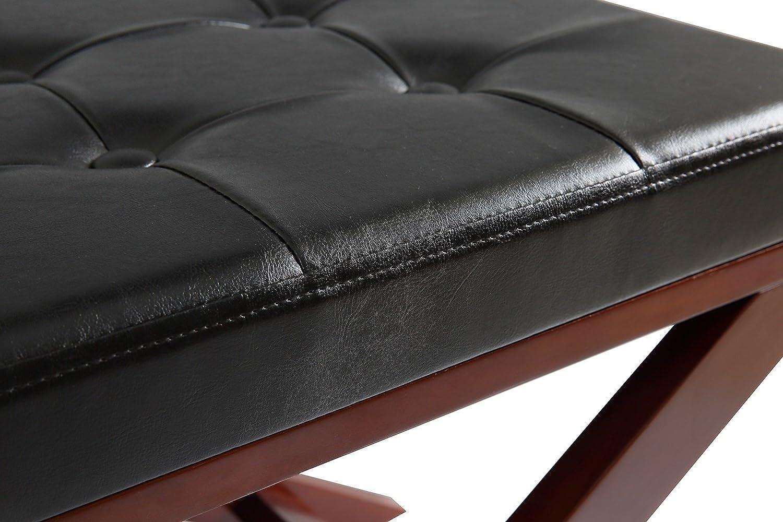 Orolay sgabello per pianoforte panca con sedile imbottito bianco