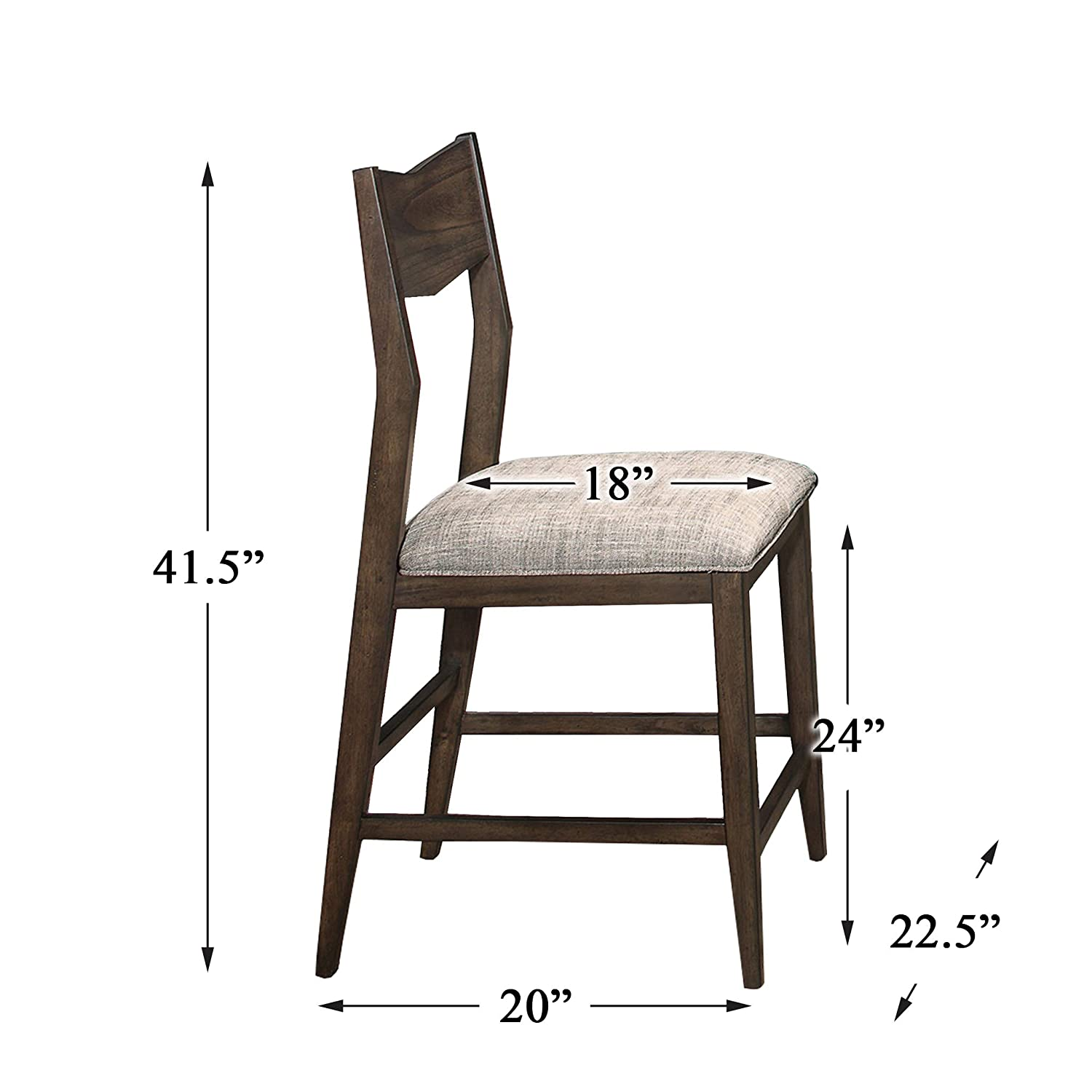 Cool Amazon Com Homelegance 5644 Counter Height Chair 2 Piece Unemploymentrelief Wooden Chair Designs For Living Room Unemploymentrelieforg
