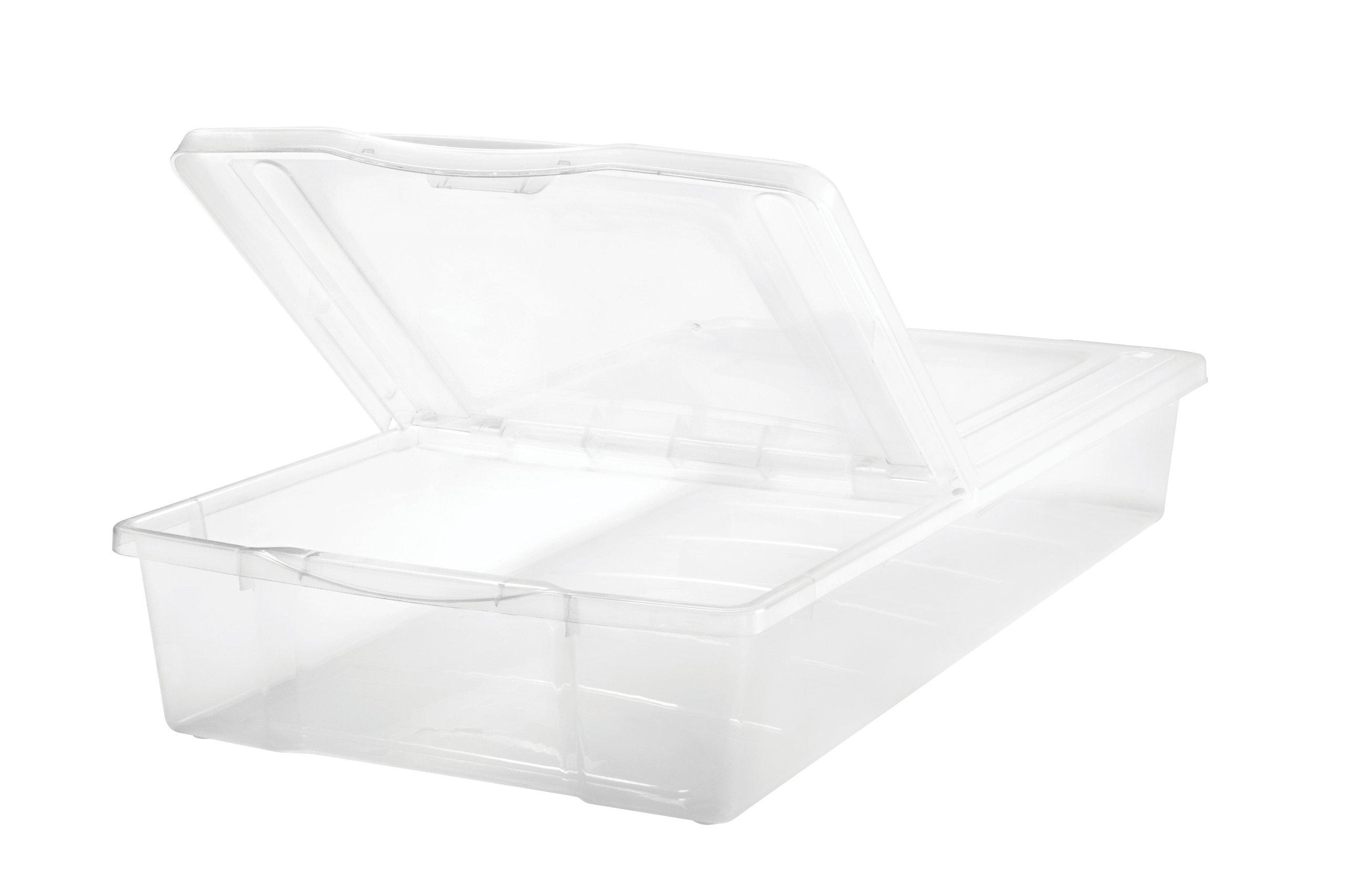 IRIS 58 Quart Split-Lid Underbed Box,1 Pack of 5 pieces