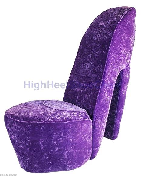 Elegant Lavender Purple High Heel Shoe Chair