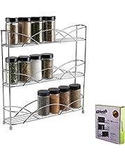 Kitchenista Soporte para Especias y Hierbas de Pie Libre, Universal para admitir frascos de varios