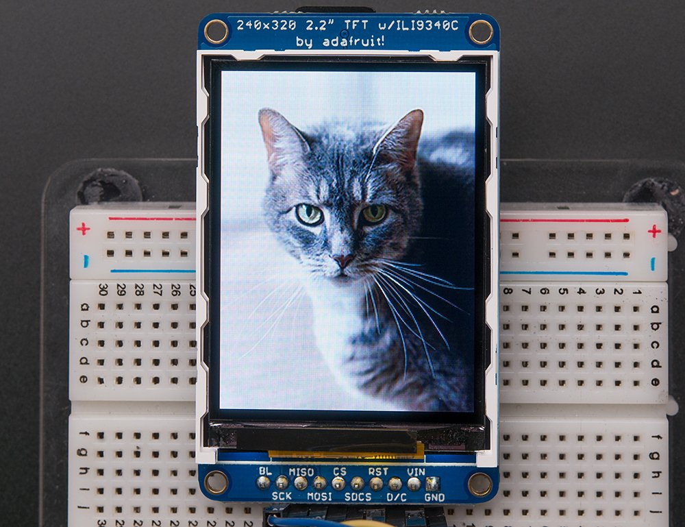 Adafruit - Pantalla TFT incluye LCD (18 bit, 2,2'', incluye TFT ranura para tarjeta microSD) 9988dd