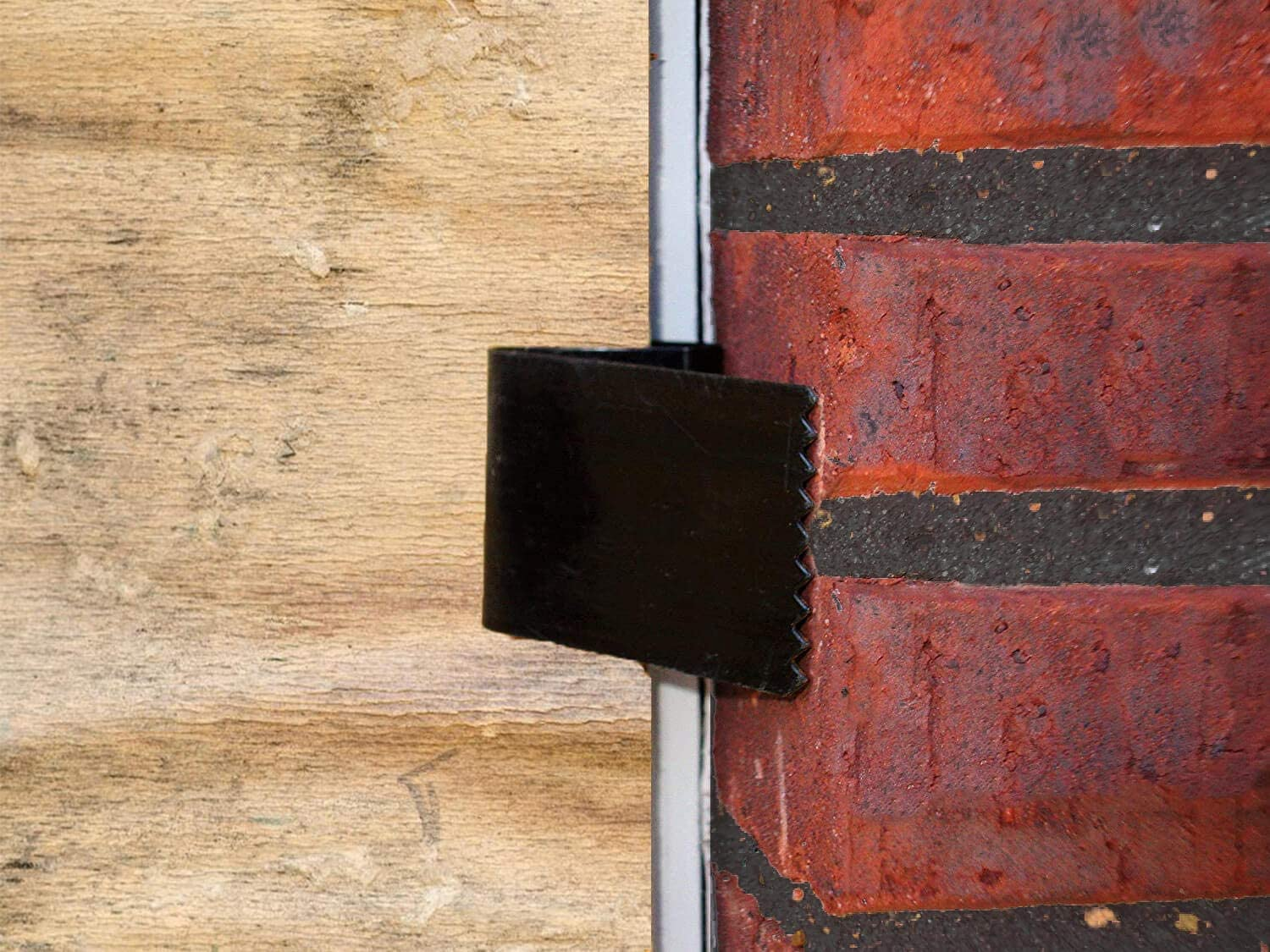 16 Pack Hurricane Window Clips Used to Secure Plywood Hurricane Shutters Black Steel Hurricane Board-Up Clips Fits 1//2 inch Thick Plywood//Brick//Wood /& Stucco