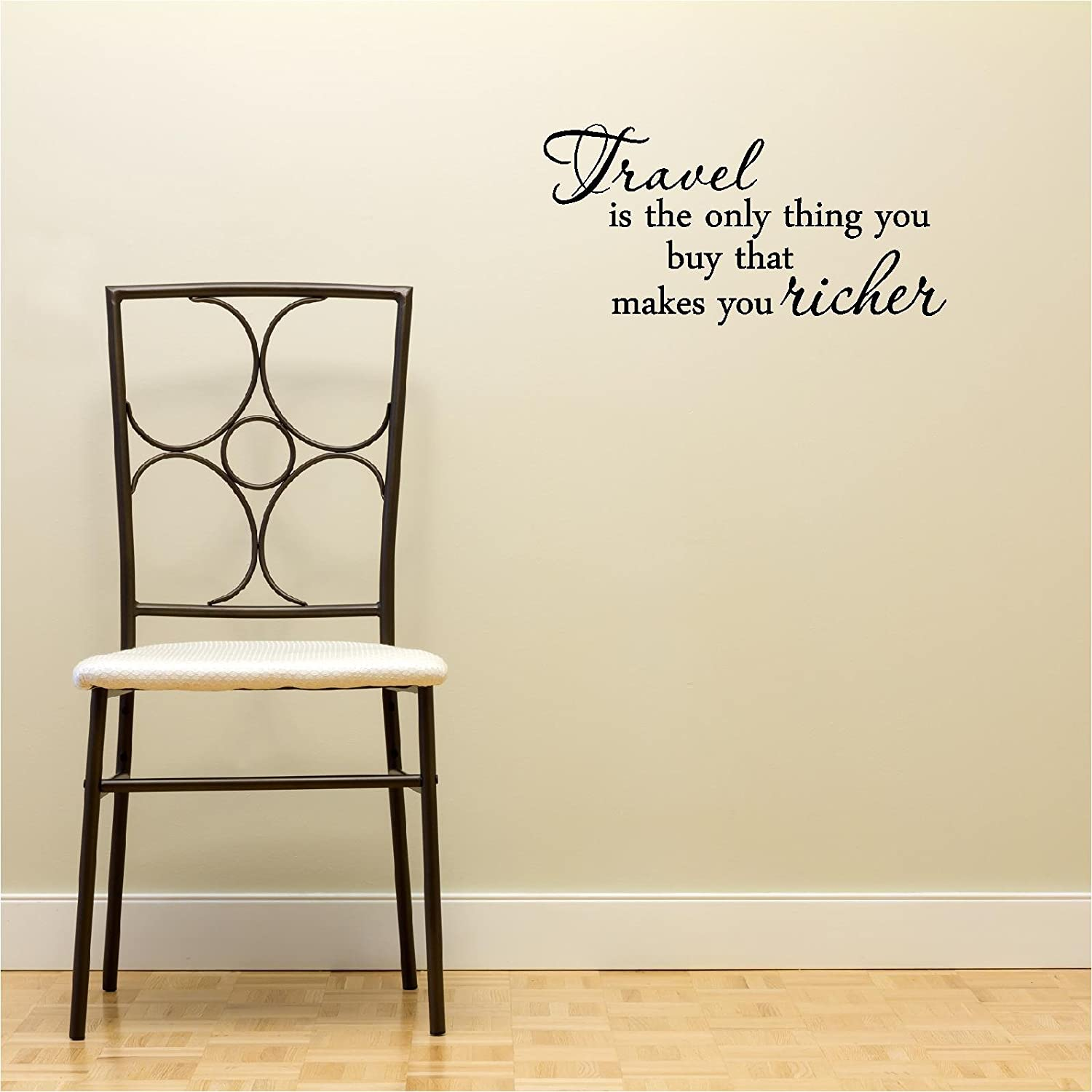 Amazon.com : Travel Is The Only Thing You Buy That Makes You Richer Home  Vinyl Wall Decals Quotes Sayings Words Art Decor Lettering Vinyl Wall Art  ...