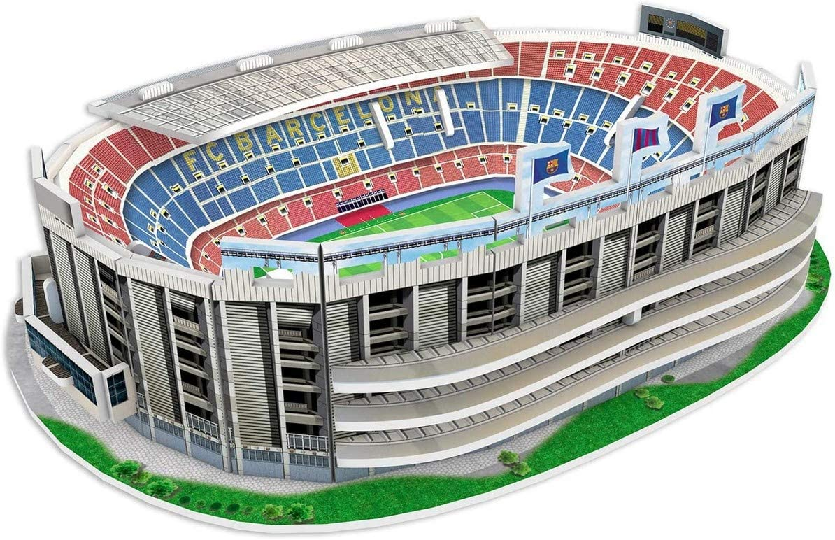Kick Off- 34010 Puzzle 3D Mini Estadio NOU Camp 2019, Multicolor