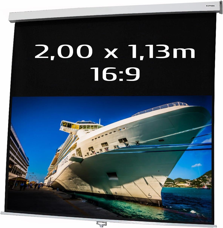 Pantalla Manual DE PROYECCION 2,00x1,13m Formato 16:9 Autolock SRC ...