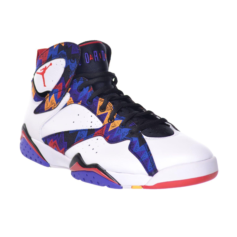 promo code 641f3 2bfeb Amazon.com   Jordan Air 7 Retro Sweater Mens  Shoes White University Red- Black-Bright Concord 304775-142 (11 D(M) US)   Basketball