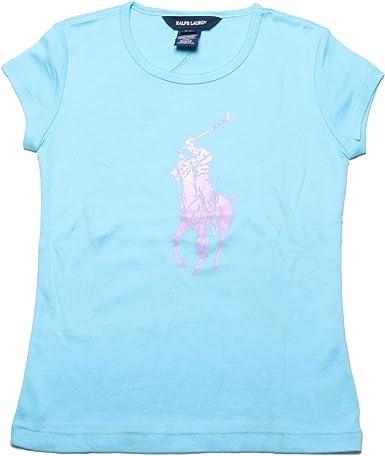Ralph Lauren Camiseta de manga larga para niña azul