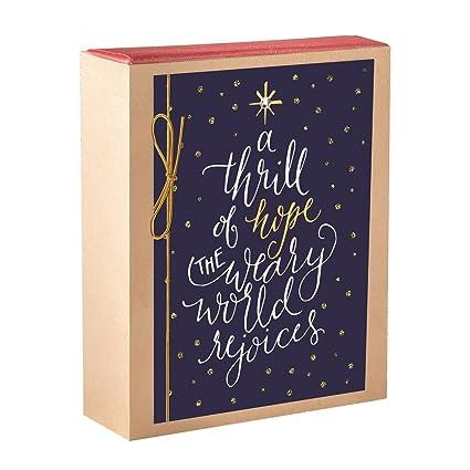 Dayspring Christmas Cards.Dayspring A Thrill Of Hope 18 Premium Christmas Match Box Cards Kjv