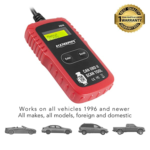 KOBRA KB30 is a basic code reader that can effectively check your car.