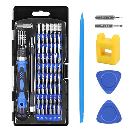 Hobby-Ace 62 in 1 Precision Screwdriver Set Magnetic Driver Kit Magnetizer, Professional Repair Tool Kit Electronics Devices, Cell Phone, Tablet, PC, ...