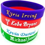 Basketball Authentic Inspirational Signature Motivation Wristbands Sport Silicone Bracelet (5 Pack)