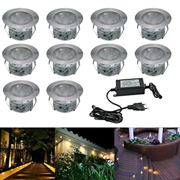 Emejing eclairage exterieur jardin encastrable images for Lumiere led terrasse