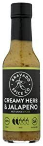 BRAVADO SPICE Creamy Herb & Jalapeno Hot Sauce, 5 FZ