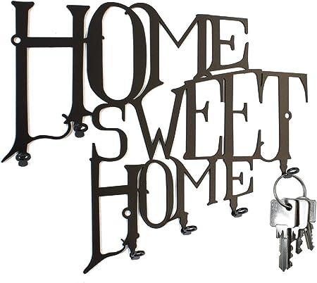 Home Sweet Home 6 gancio Pannello portachiavi design Ganci portachiavi