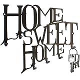 """steelprint.de - Pannello appendi-chiavi """"Home Sweet Home"""", con ganci di chiusura, BO design"""