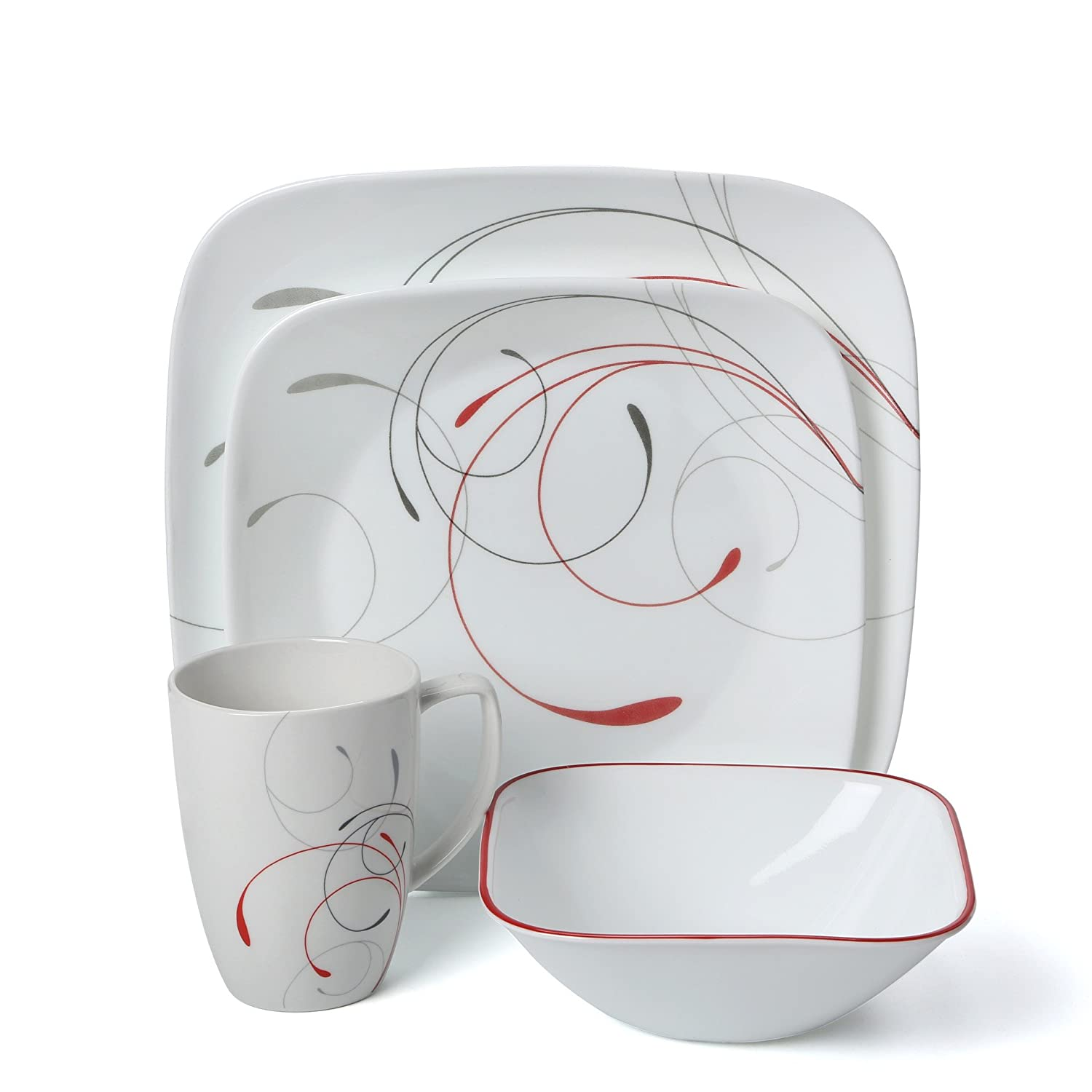 Amazon.com | Corelle Square 32-Piece Dinnerware Set Splendor Service for 8 Dinnerware Sets  sc 1 st  Amazon.com & Amazon.com | Corelle Square 32-Piece Dinnerware Set Splendor ...