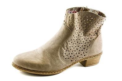 Rieker Damen Komfort Western Boots Beige Taupe Gr. 37  Amazon.de ... 6788fa9895