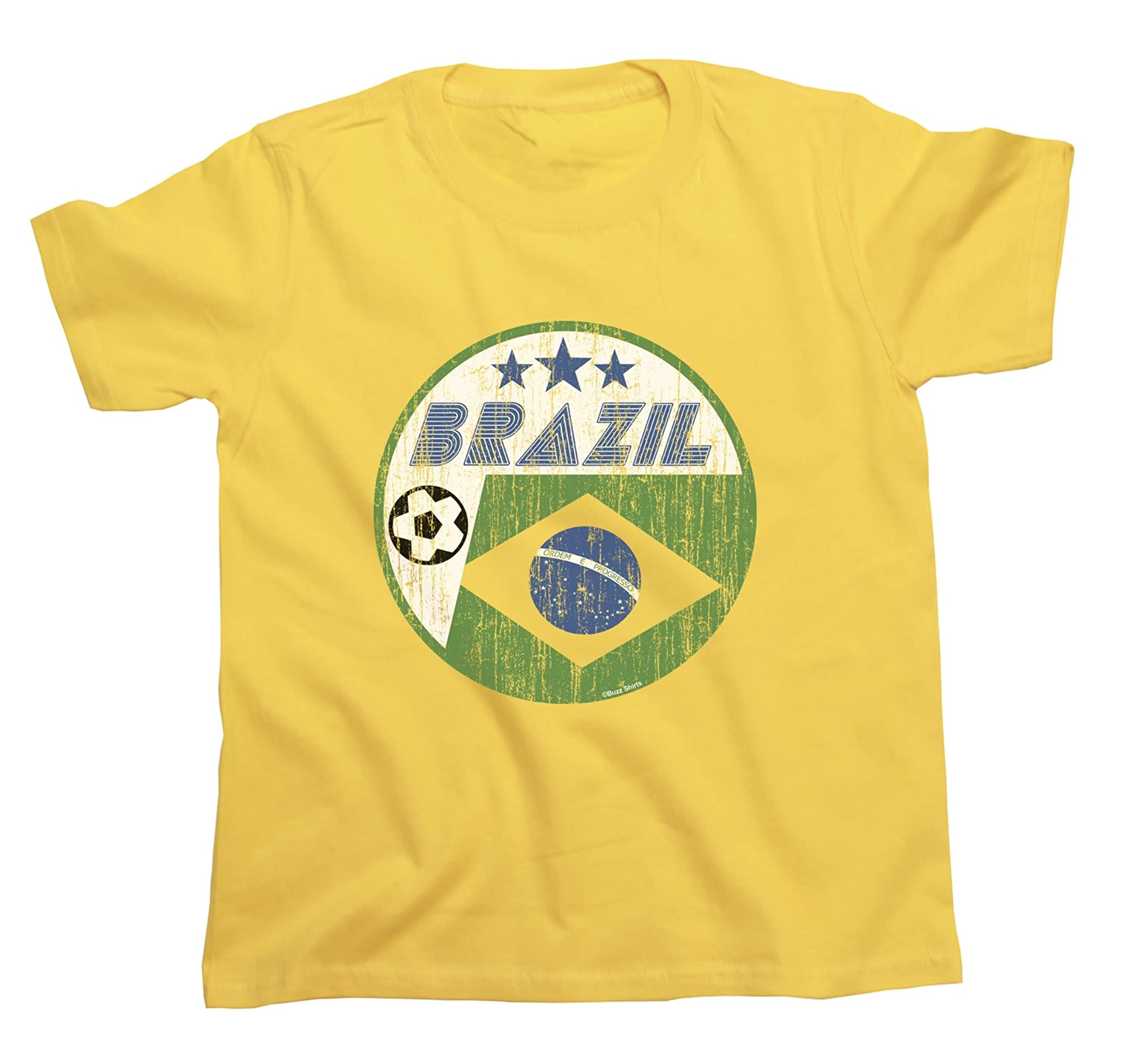Brazil Girls Country And Flag Football World Cup 2018 Retro Circle Flag T Shirt