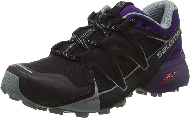 Salomon Speedcross Vario 2, Zapatillas de Trail Running para Mujer, Negro (Black/Acai/Lead), 45 1/3 EU: Amazon.es: Zapatos y complementos